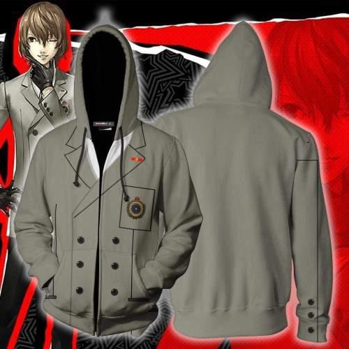 Persona 5 Hoodie - Goro Akechi Zip Up Hoodie