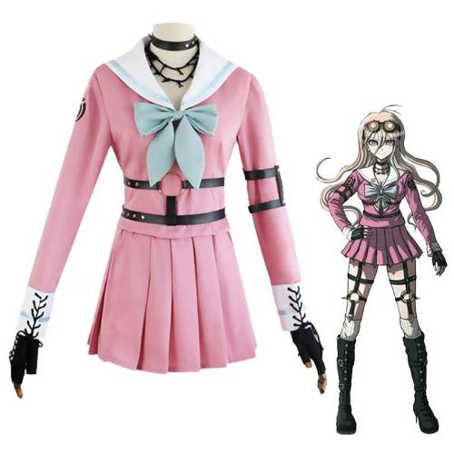 Anime Danganronpa Miu Iruma Costume Wigs Dangan Ronpa 2 Uniforms Dress
