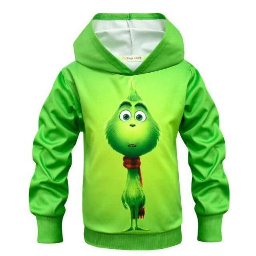 Green Monster Grinch The Grinch Children Christmas Cosplay 3D   Sweater Zipper Hoodie Anime Clothing Men And Women Clothing