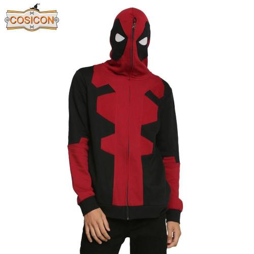 Deadpool Hoodie Sweatshirts Adult Cosplay Costume
