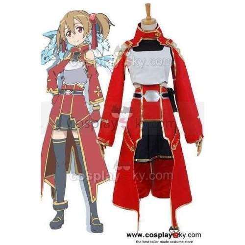Sword Art Online Silica Keiko Ayano Battle Suit Uniform Costume Cosplay