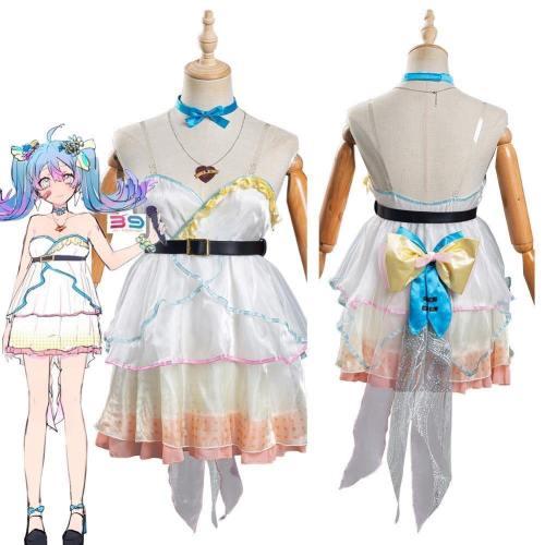 Vocaloid Hatsune Miku - Ai Kotoba Women Dress Outfits Halloween Carnival Suit Cosplay Costume