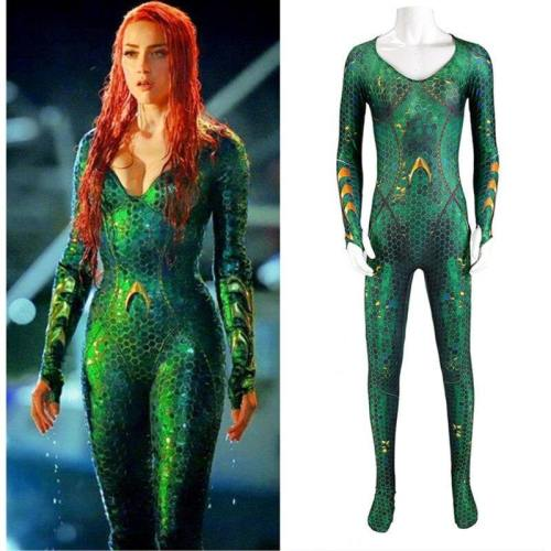 Aquaman Adult Mera Aqua Man Justice Alliance Jumpsuit Cosplay Costume