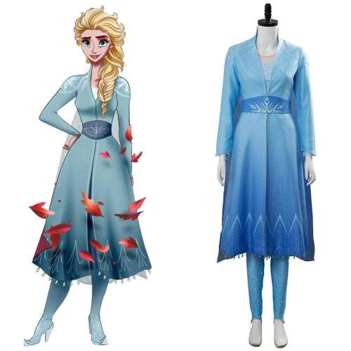 Frozen 2 Princess Elsa Cosplay Costumes