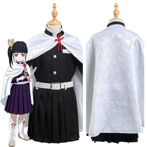 Demon Slayer: Kimetsu No Yaiba Tsuyuri Kanawo Kids Girls Skirt Cloak Outfits Halloween Carnival Suit Cosplay Costume