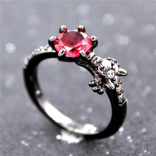 Black Dragon Rhinestone Ring