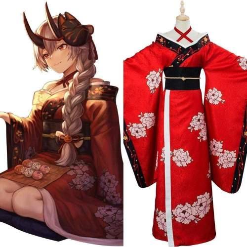 Fate/Grand Order Tomoe Gozen Kimono Cosplay Costume