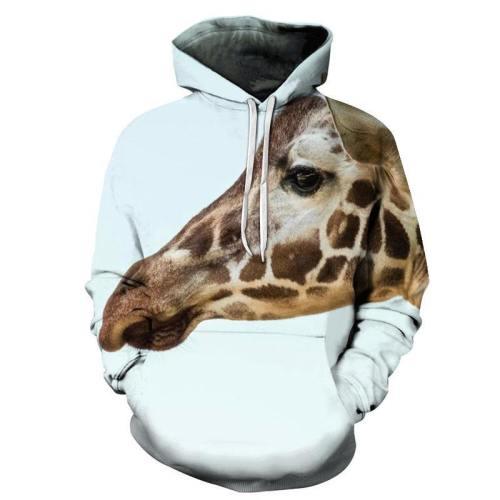 Giraffe Face 3D - Sweatshirt, Hoodie, Pullover