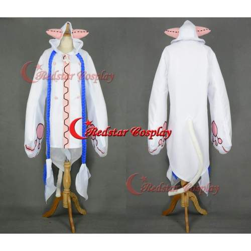 Blazblue Calamity Trigger Taokaka Cosplay Costume ( White Version)