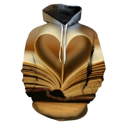 Heart Of Book 3D - Sweatshirt, Hoodie, Pullover