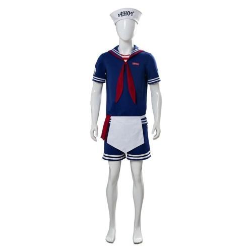 Stranger Things 3 Scoops Ahoy Steve Harrington Cosplay Costume