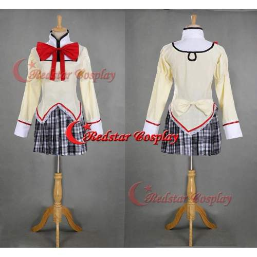 Puella Magi Madoka School Uniform Cosplay Costume For Mahou Shouj, Shizuki Hitomi, Akemi Homura Cosplay