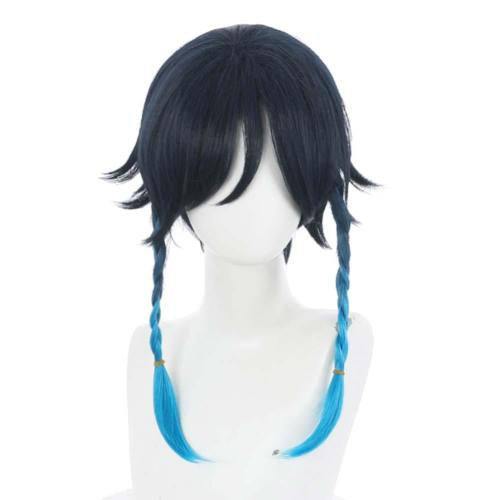 Game Genshin Impact Venti Heat Resistant Synthetic Hair Carnival Halloween Party Props Cosplay Wig