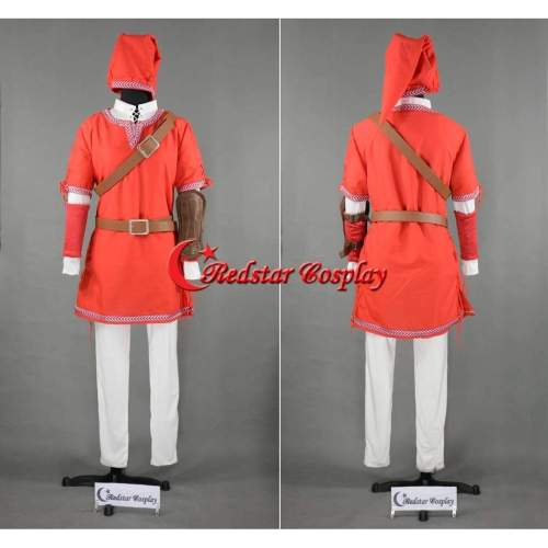 The Legend Of Zelda Link Cosplay Costume Red Version Custom In Any Size