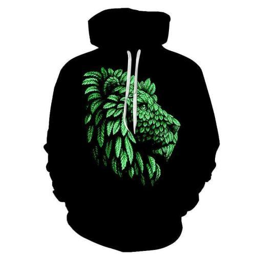 Green Lion 3D - Sweatshirt, Hoodie, Pullover