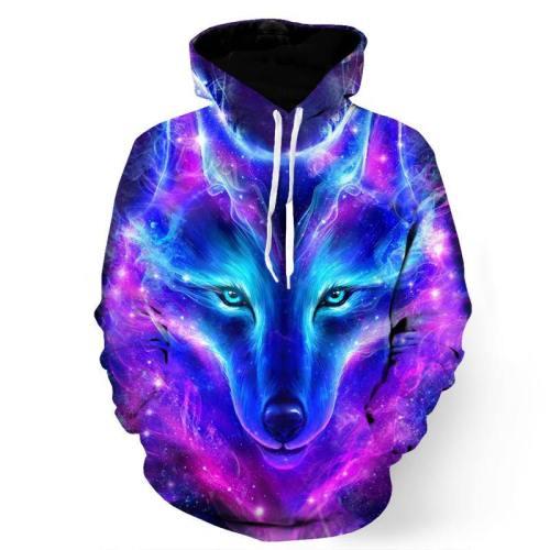 Galactic Wolf Sweatshirt/Hoodie