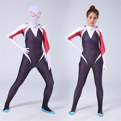 Woman Spider Gwen Stacy Cosplay Costume Spiderman Halloween Jumpsuits