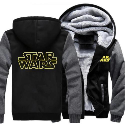 Star Wars Hoodie Sweatshirt Men  New Fashion Winter Warm Fleece Thick Zipper Hooded Hoodies Jackets Hoody Male Plus Size 5Xl