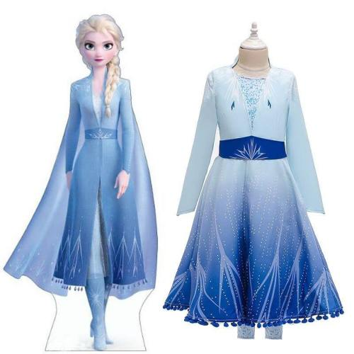 Frozen 2 Elsa Dress For Teen Girl Princess Dress Birthday Gift Costume Carnival Kid Elza Up Princess Frock Child Disguise Christmas Gift