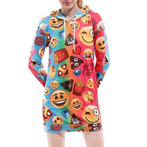 Emoji Hoodie Dress
