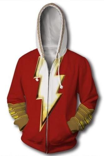 Shazam Fashion Hoodie Long Sleeve Printed Sweatshirt