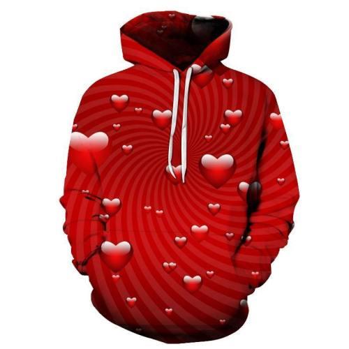 Heart Swirl 3D - Sweatshirt, Hoodie, Pullover