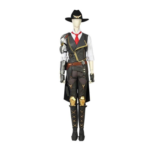 Overwatch Ashe Damage Cosplay Suits Halloween Party Cosplay Costume