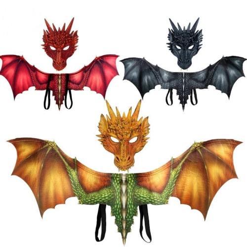 Game Of Throne Dragon Wings Helmet Halloween Dinosaurio Party Costumes
