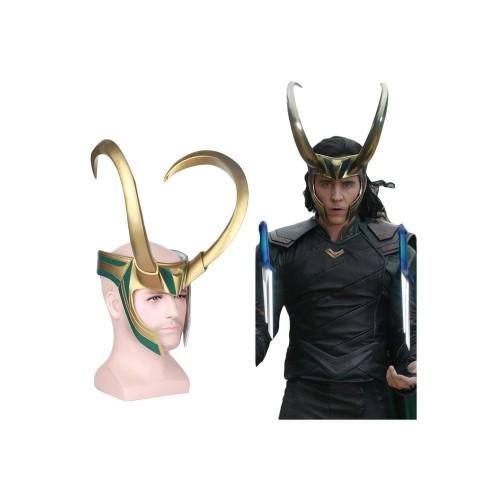 Thor 3 Ragnarok Loki Helmet Mask Cosplay Props