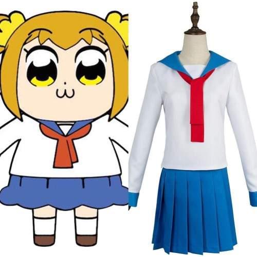 Anime Pop Team Epic Poputepipikku Popuko Pipimi Sailor Suit School Uniform Dress Cosplay Costume