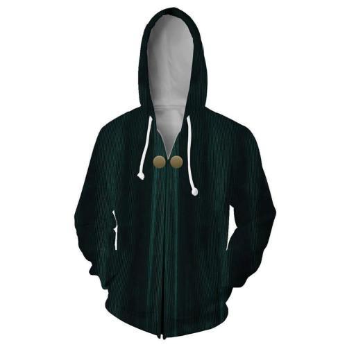Unisex Minerva Mcgonagall Hoodies Harry Potter Zip Up 3D Print Jacket Sweatshirt