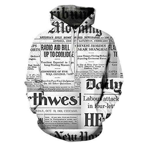 Headline Spaper Print 3D - Sweatshirt, Hoodie, Pullover