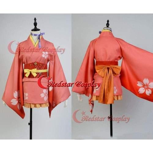 Kabaneri Of The Iron Fortress Mumei Nameless Cosplay Costume Kimono Outfit Dress