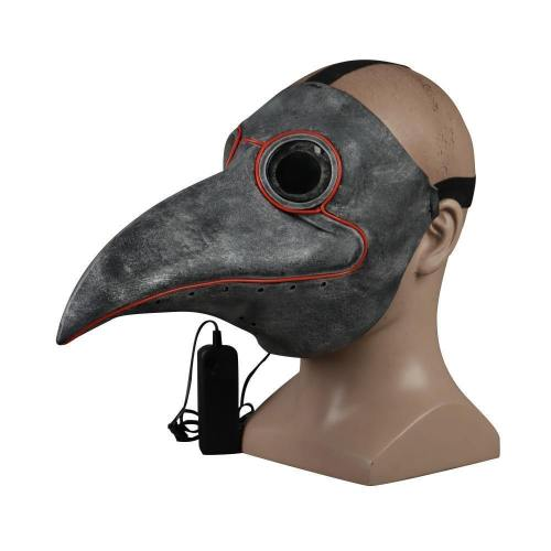 Steampunk Plague Bird Doctor Cosplay Mask Plague Doctor Masks Latex Led Funny Event Holiday Halloween Party Costume Props