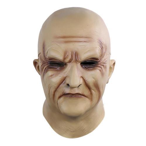 Horror Old Man Cosplay Realistic Grandfather Helmet Halloween Props