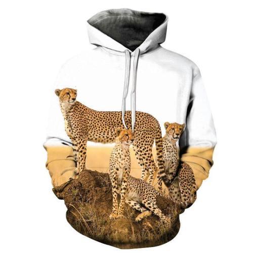 Cheetah Family 3D - Sweatshirt, Hoodie, Pullover