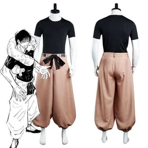 Anime Jujutsu Kaisen Touji Fushiguro Top Pants Outfits Halloween Carnival Suit Cosplay Costume