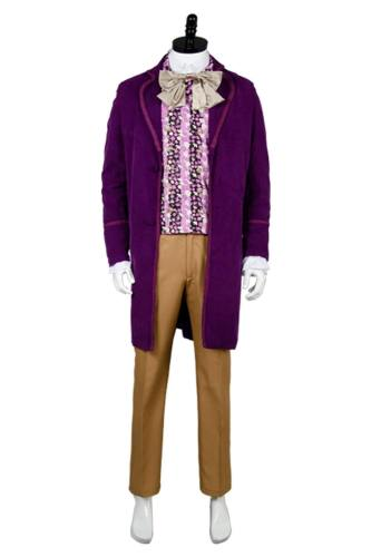 Willy Wonka And The Chocolate Factory  Costume - Coat,Vest,Bow Tie,Pants