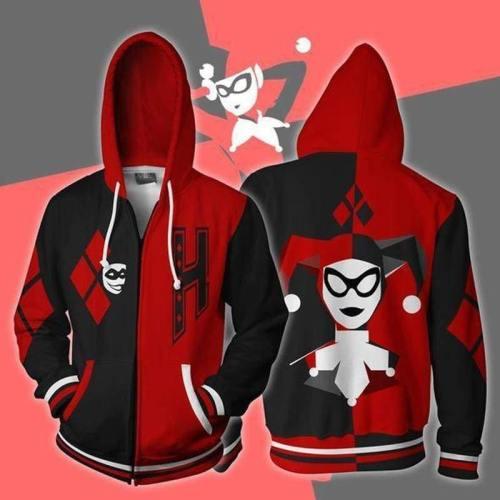 Batman Hoodie - Harley Quinn Zip Up Hoodie