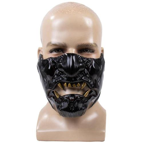 Game Ghost Of Tsushima Soul Halloween Latex Half Face Cosplay Props
