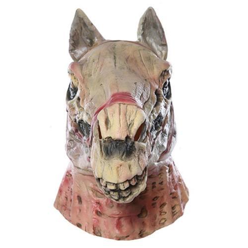 Halloween Horror Skull Horse Head Latex Helmet Cosplay Accessories