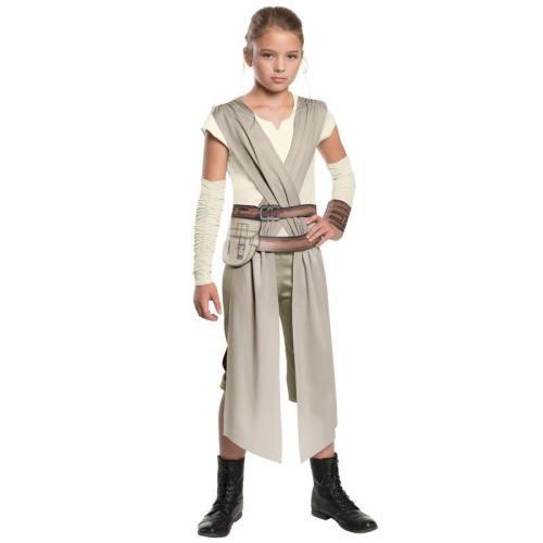 The Force Awakens Star Wars Rey Costume Girls Carnival Cosplay Halloween Costumes