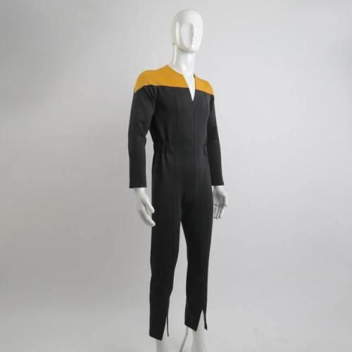 Star Deep Space Nine Trek Commander Sisko Duty Uniform Jumpsuit Yellow Cosplay Costumes Halloween Party Prop