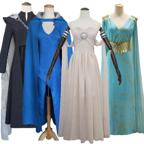 Game Of Thrones Daenerys Targaryen Dragons Mother Dress Costume For Girls And Women Cosplay