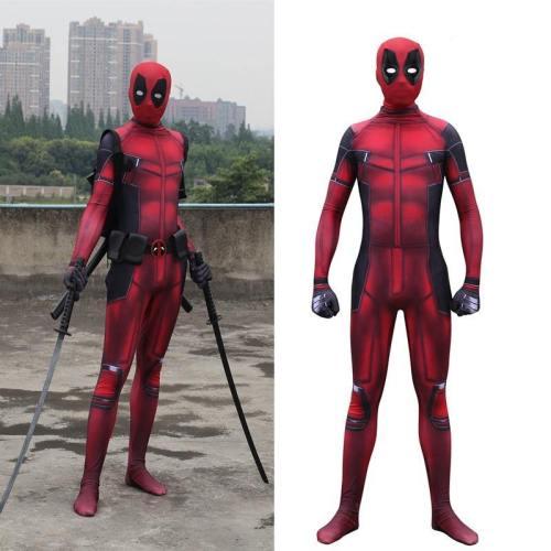 Wade Winston Wilson Deadpool 2 Spandex Costume Zentai Bodysuit Suit