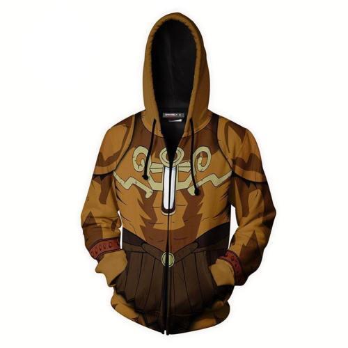 Unisex Exodia Hoodies Yu-Gi-Oh! Zip Up 3D Print Jacket Sweatshirt