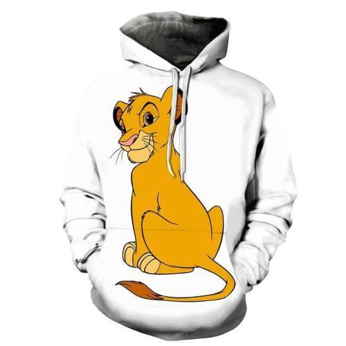 Naughty Simba Cartoon 3D - Sweatshirt, Hoodie, Pullover