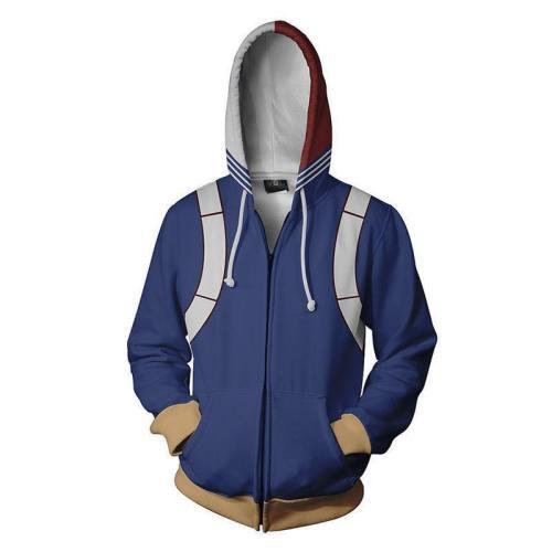 My Hero Academy 3D Sanitary Wardrobe Digital Printed Zipper Card Hoodie