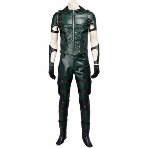 Green Arrow Oliver Queen Costume Season 4 For Halloween Cosplay Party Suit