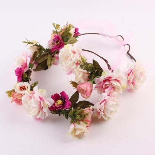 Kids And Monther Rose Flower Hairband Wreath Headdress Weave Garlands
